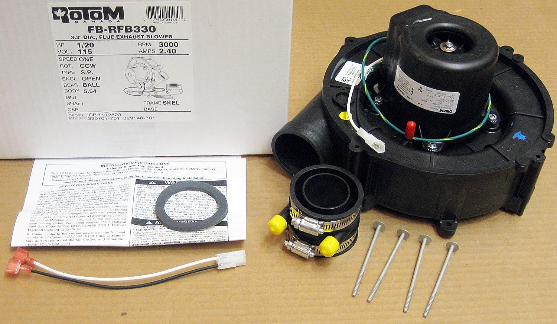 Furnace Draft Inducer Motor For Heil Tempstar Comfortmaker Arcoair 1172823 1014338 HQ1014338FA