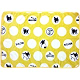 Frenchie French Bulldog Super Soft Fleece YELLOW Pet Bed Blanket