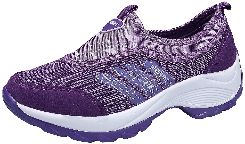 DENGBOSN Zapatillas de Deporte Mujer Zapatos para Correr Deportivos Fitness Casual Sneaker