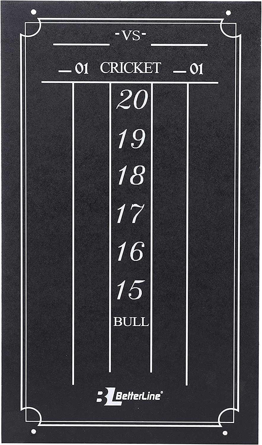 Amazon Com Betterline Large Professional Scoreboard Chalkboard For Cricket And 01 Darts Games 15 5 X 9 Inch 39 3 X 22 9 Cm Black Board Eraser And 2 Chalk Pieces Included Sports Outdoors