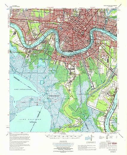 Amazon Com Yellowmaps New Orleans La Topo Map 1 62500 Scale 15 X