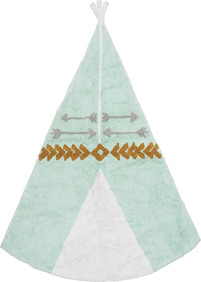 Ideenreich 2402 Alfombra 100% algodón lavable, 120 x 160 cm, color ...