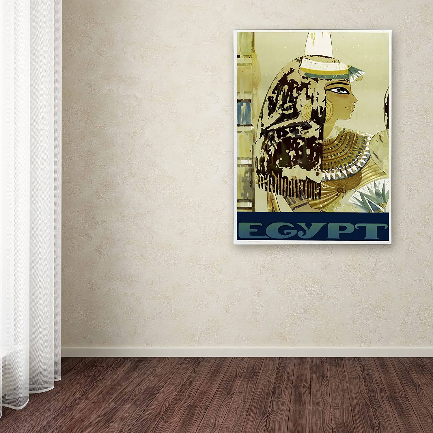 Visit Egypt Cleopatra Artwork by Vintage Apple Collection, 16 by 24-Inch Canvas Wall Art