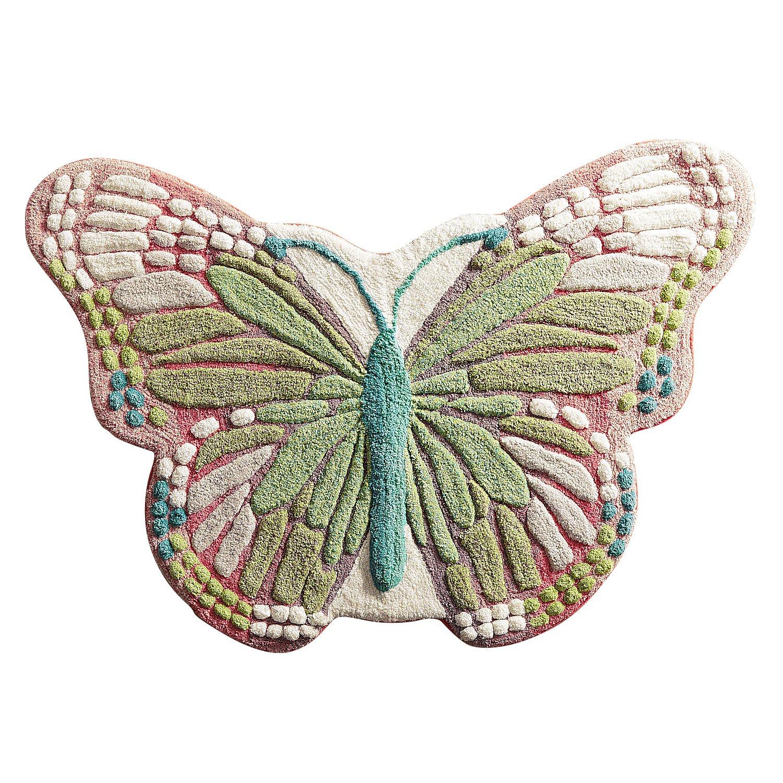 Pier 1 Imports Butterfly Bath Rug Bathroom Shower Mat