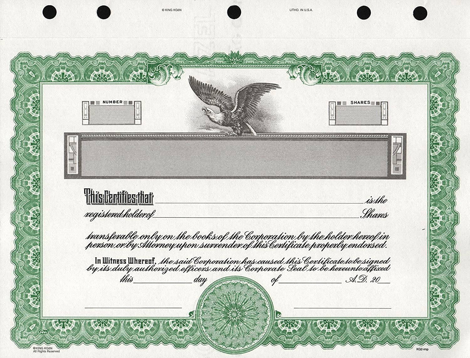 Blank Stock Certificate Template Archtimescom - S corporation stock certificate template
