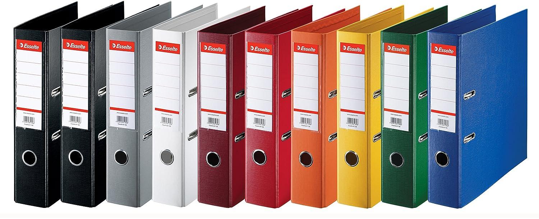 Esselte 624177 - Archivadores de anillas (lomo estándar de 75 mm, 10 unidades), diferentes colores: Amazon.es: Oficina y papelería