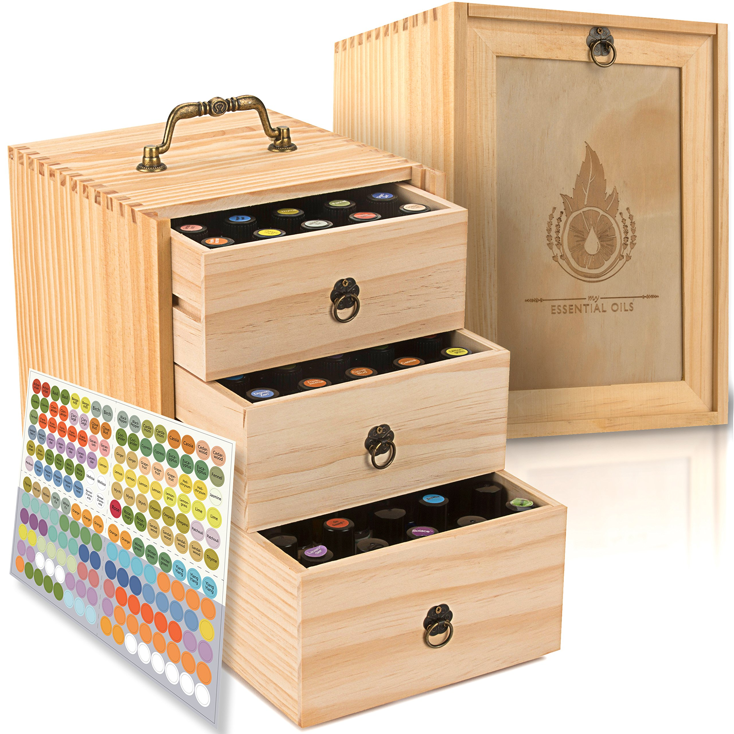 Amazon Com Essential Oil Box Wooden Storage Chest With