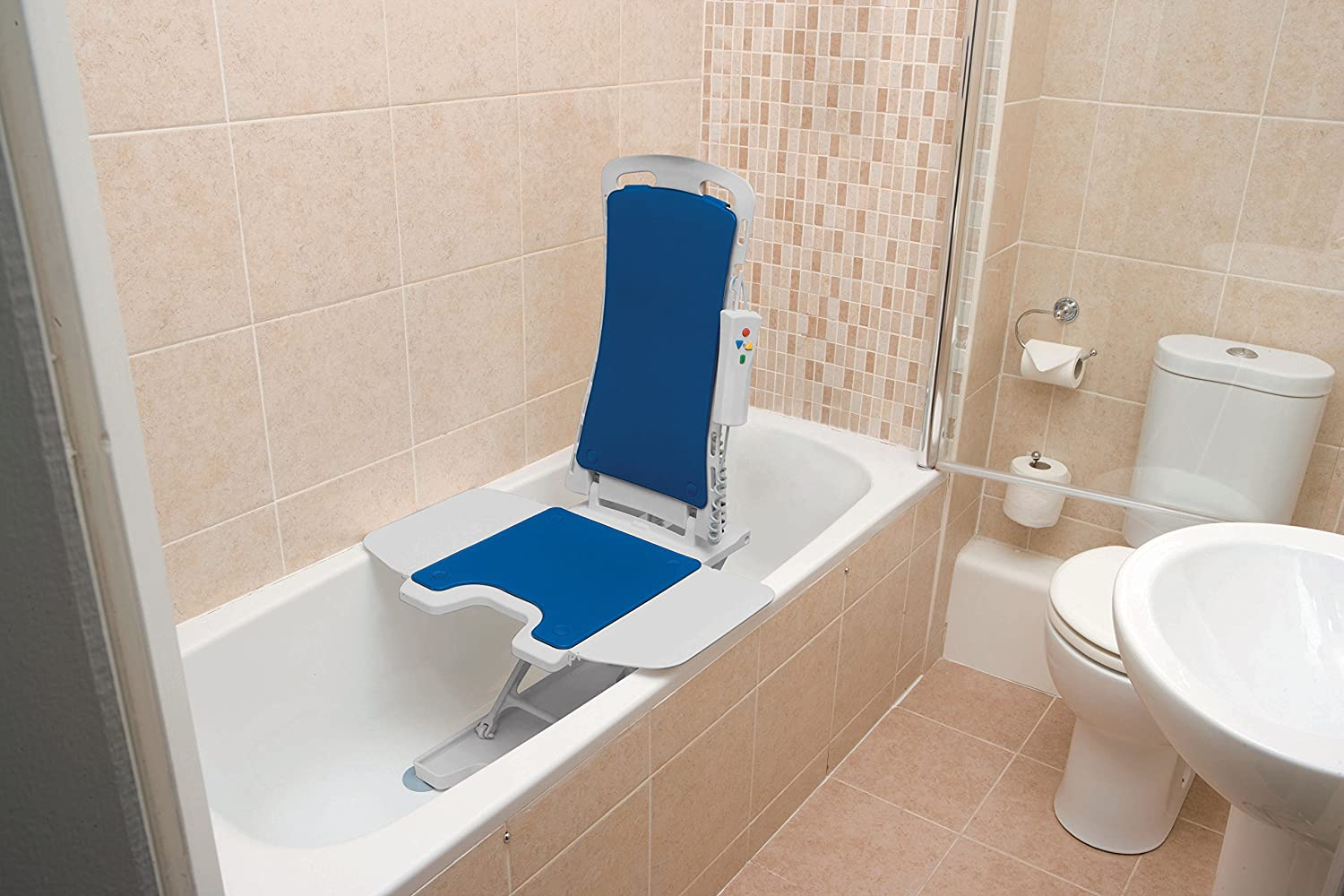 Amazon.com: Drive Medical Whisper Ultra Quiet Bath Lift, Blue ...