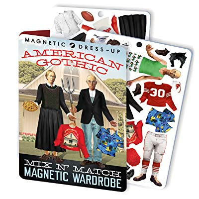 The Unemployed Philosophers Guild American Gothic Magnetic Dress Up Doll Play Set: Toys & Games