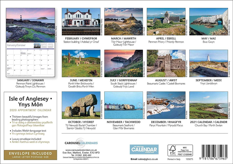 A4, 2020 Calendario Isle of Anglesey