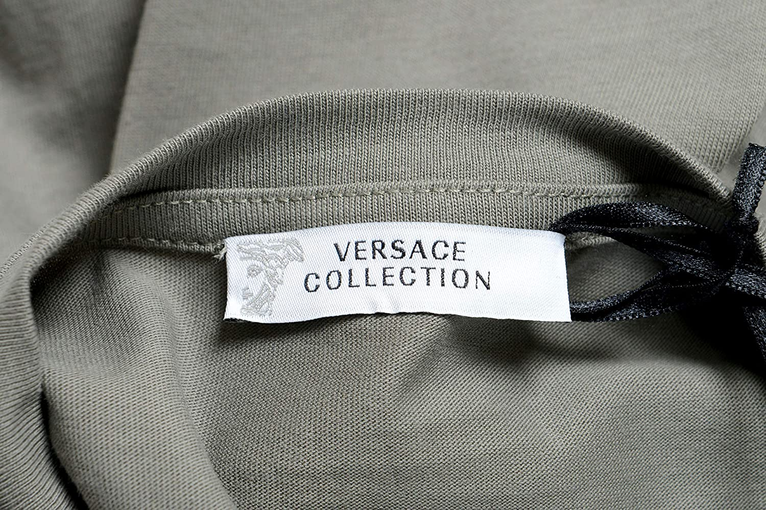 Versace Collection Mens Gray Graphic Crewneck T-Shirt Size US S IT 48