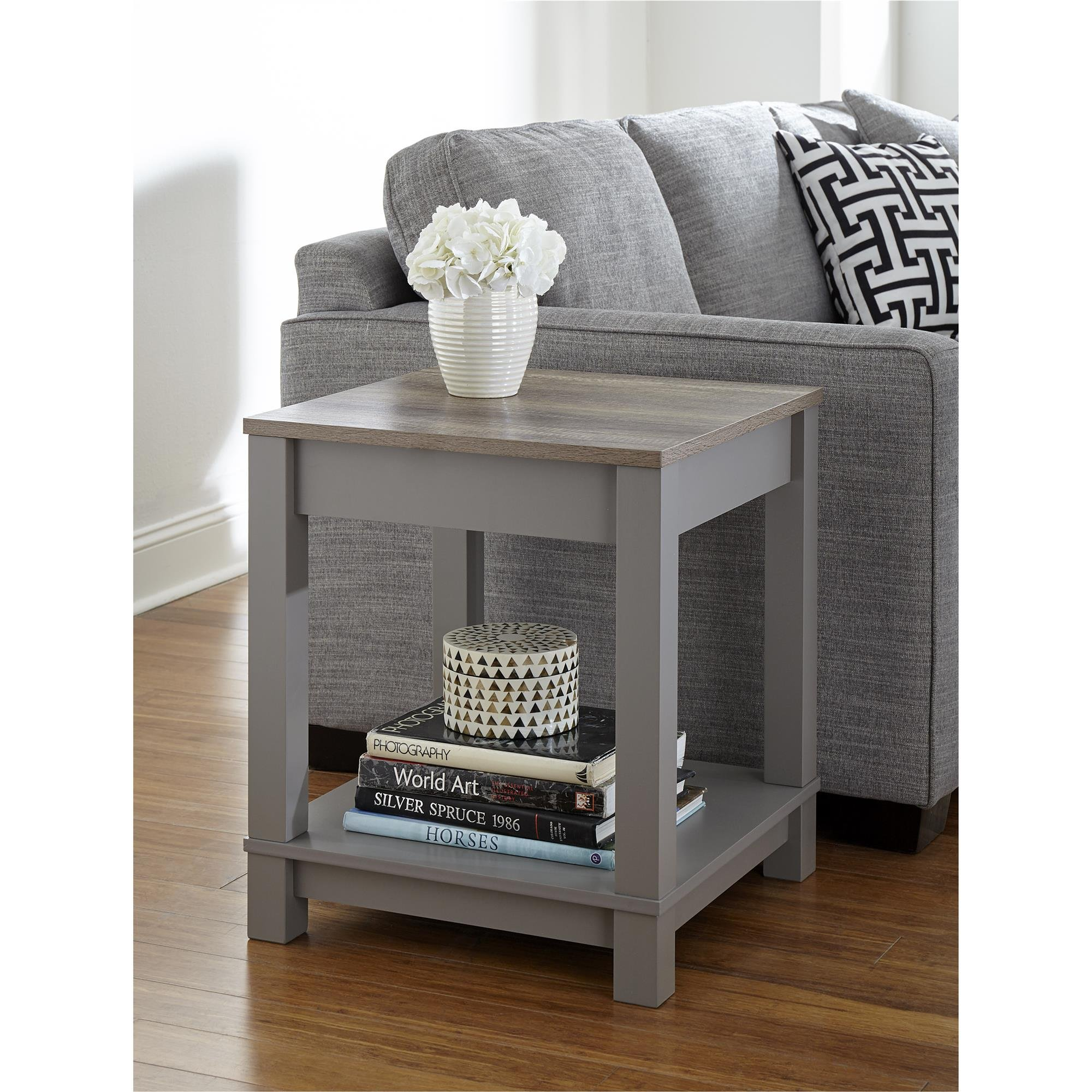 Ameriwood Home  Carver End Table, Gray/Sonoma Oak by Ameriwood Home