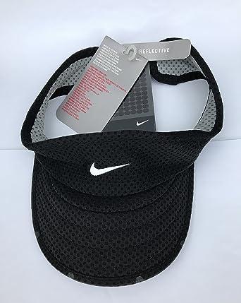 51dff8354cb Nike GOLF TENNIS UNISEX VISOR DRI FIT SUN CAP (BLACK)  Amazon.co.uk   Clothing