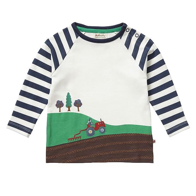Piccalilly, Camiseta con Manga Larga, Jersey de algodón orgánico, niños, Granja: Amazon.es: Ropa y accesorios