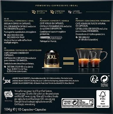 LOR BARISTA, Cápsulas Doble Ristretto Intensidad 11 - Exclusivas para cafeteras LOR BARISTA (1 pack, 10 cápsulas en total): Amazon.es: Alimentación y bebidas