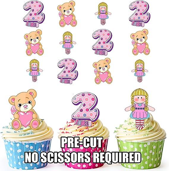 Precortado 2 nd cumpleaños de niñas pequeños – Decoración ...