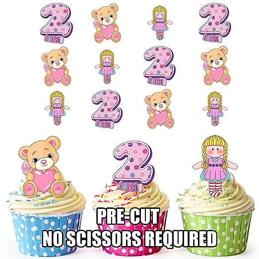 Precortado 2 nd cumpleaños de niñas pequeños - Decoración ...