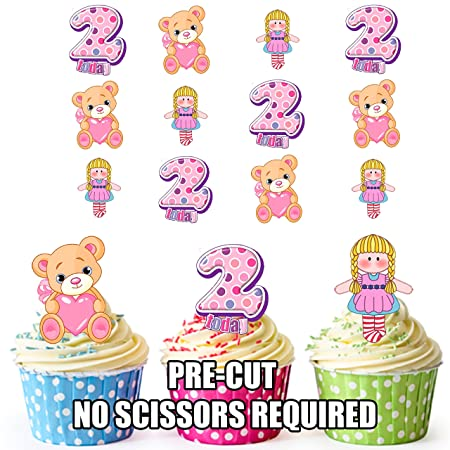 Learned Birthday Cartoon Speech Bubble Precut Edible Cupcake Toppers Cake Decorations Online Shop Home & Garden Other Baking Accessories