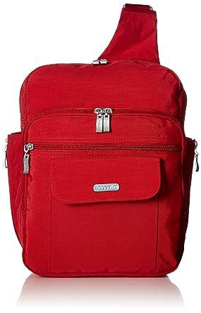 43e514d58 Amazon.com: Baggallini Messenger Bagg, Apple, One Size: Clothing