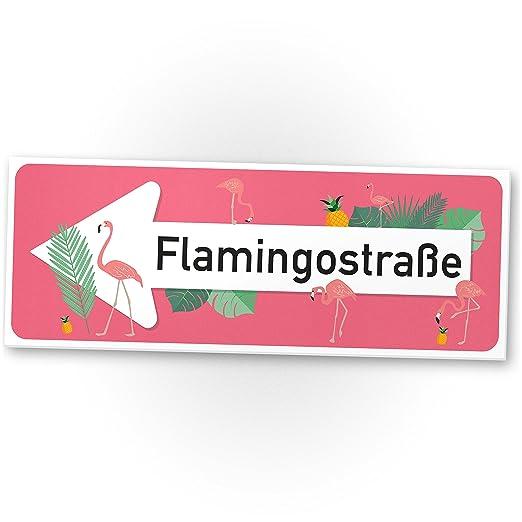 DankeDir! Flamingo plástico Cartel Calle Flamenco, pequeño ...