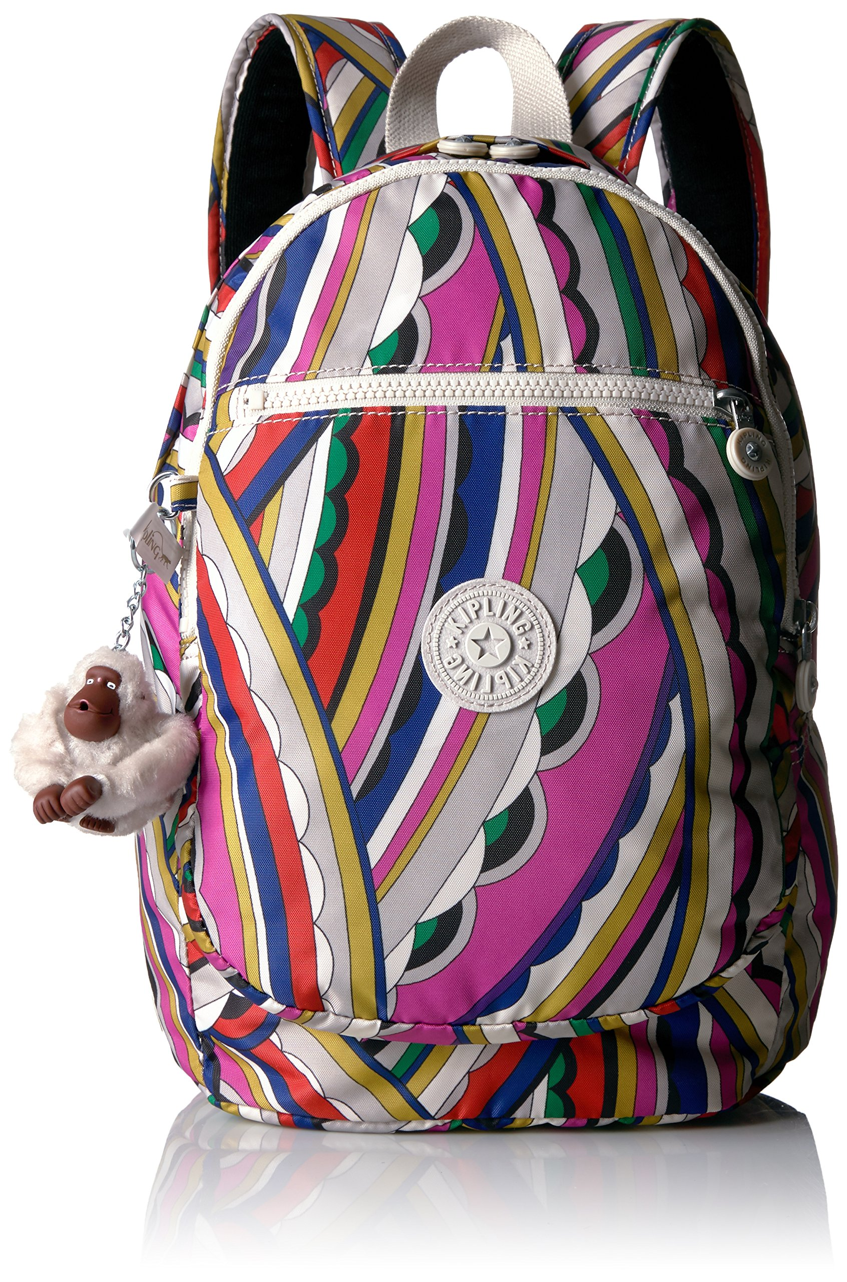 Kipling Women's Challenger Printed Backpack, Bright Si De by Kipling
