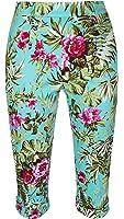 Lindy Bop 'Kendra' Chic Pattern Print Vintage 50's Cropped Capri Trousers