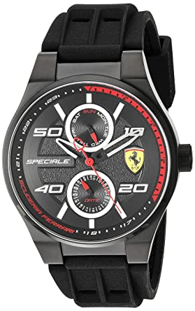 6e09d791544 Image Unavailable. Image not available for. Color  Scuderia Ferrari Men s  Stainless Steel Quartz Watch with Silicone Strap