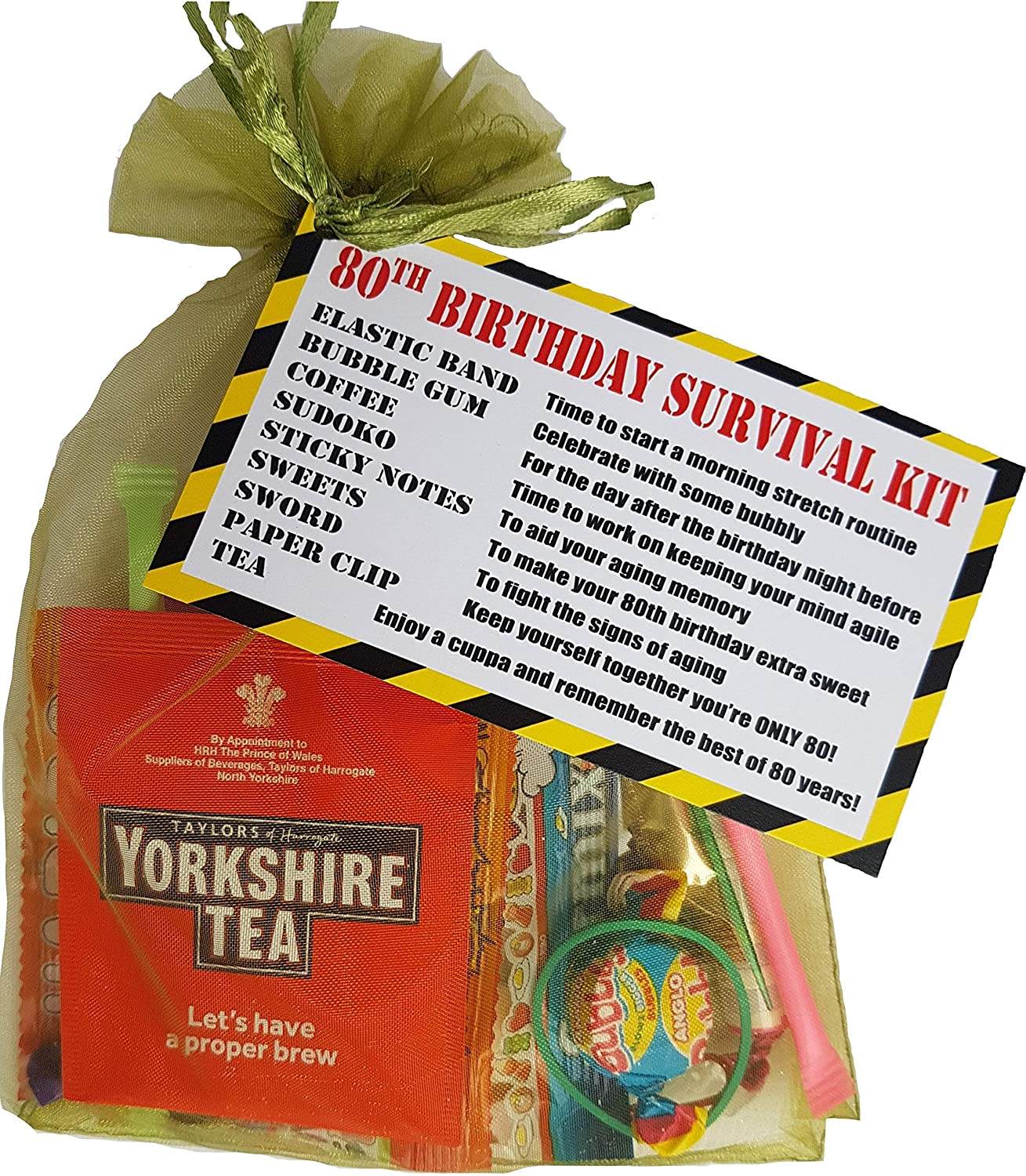 80th Birthday Survival KIT Gift Present Card Extra Fun Cheeky Idea For Him Her Men Women Grandad Granny Mum Dad Brother Or Sister