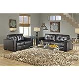 GTU Furniture 2Pc Contemporary Modern Black Pu-Leather Sofa and Loveseat Living Room Set