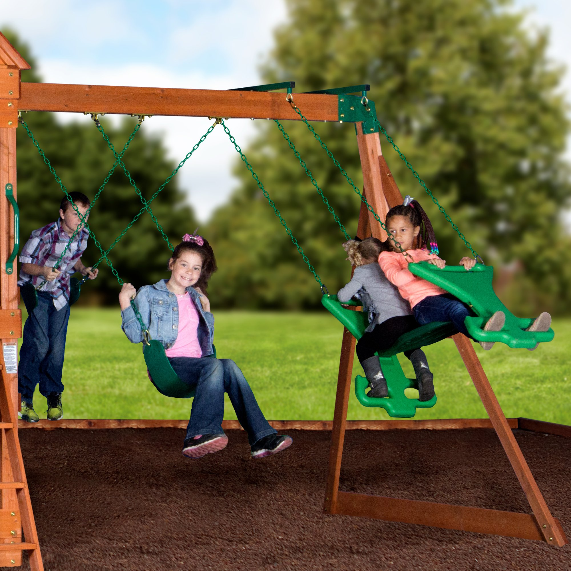 Backyard Discovery Pacific View All Cedar Wood Playset Swing Set by Backyard Discovery (Image #2)