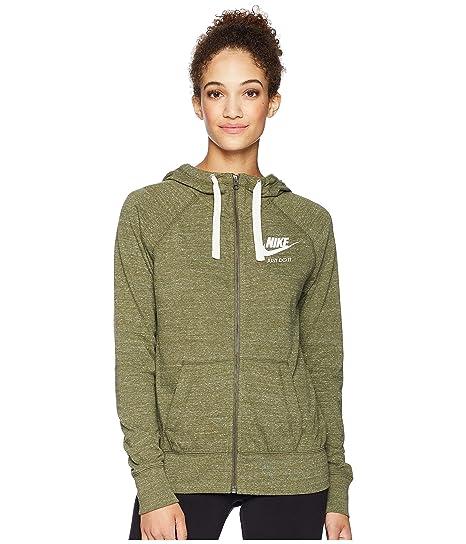 Nike Sportswear Felpa Con Cappuccio Donna Oliva