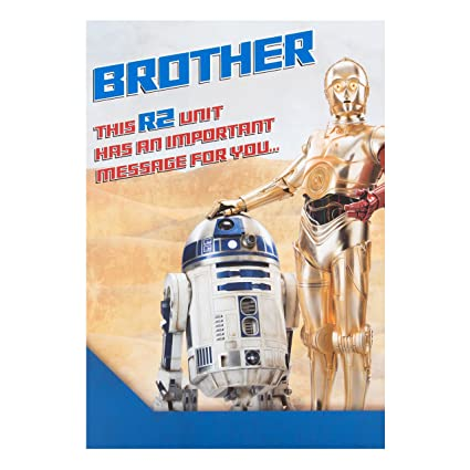Amazon.com : Star wars brother r2-d2 c3po birthday card ...