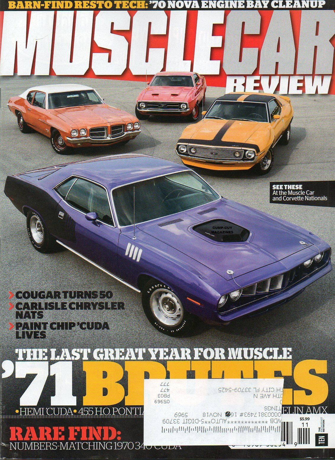 Muscle Car Review 2016 Magazine RARE BARN-FIND RESTO TECH 1970 NOVA ENGINE BAY CLEANUP Cougar Turns 50 ebook