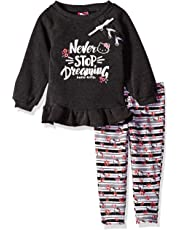 3d9dae50d964 Hello Kitty Girls' Toddler 2 Piece Legging Set, Charcoal Gray, 4T