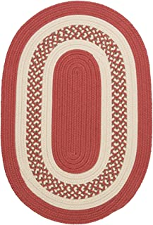 product image for Colonial Mills Hampton Fade-resistant Indoor/Outdoor Braided Rug (2' x 3') Terracotta Brown, Off-White