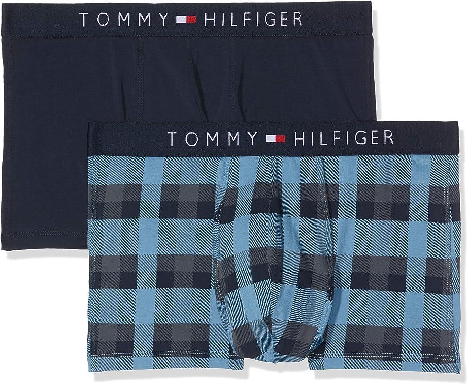 Tommy Hilfiger 2p Trunk Check Bóxer, Rosa (Blue Heaven/Navy Blazer 001), Small (Pack de 2) para Hombre: Amazon.es: Ropa y accesorios