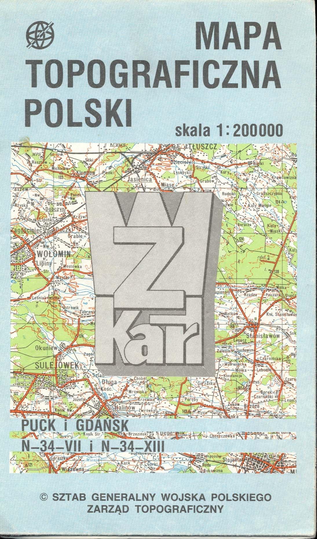 Mapa Topograficzna Polski Poland Puck I Gdansk None Amazon Com