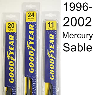 "product image for Mercury Sable (1996-2002) Wiper Blade Kit - Set Includes 24"" (Driver Side), 20"" (Passenger Side) (2 Blades Total)"
