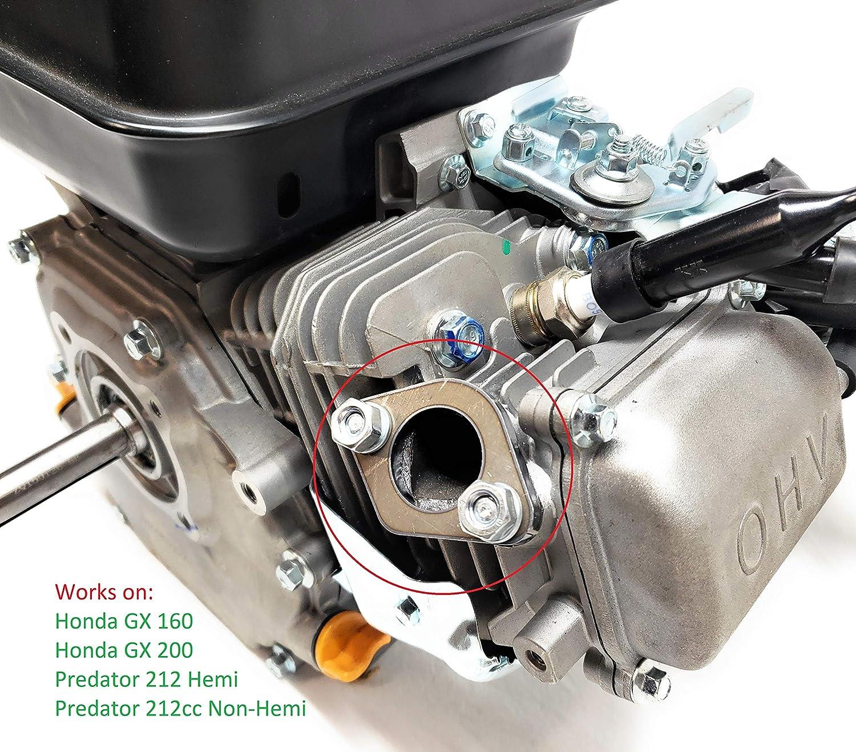 Exhaust Flange for: Predator 212cc, Honda GX160, GX200