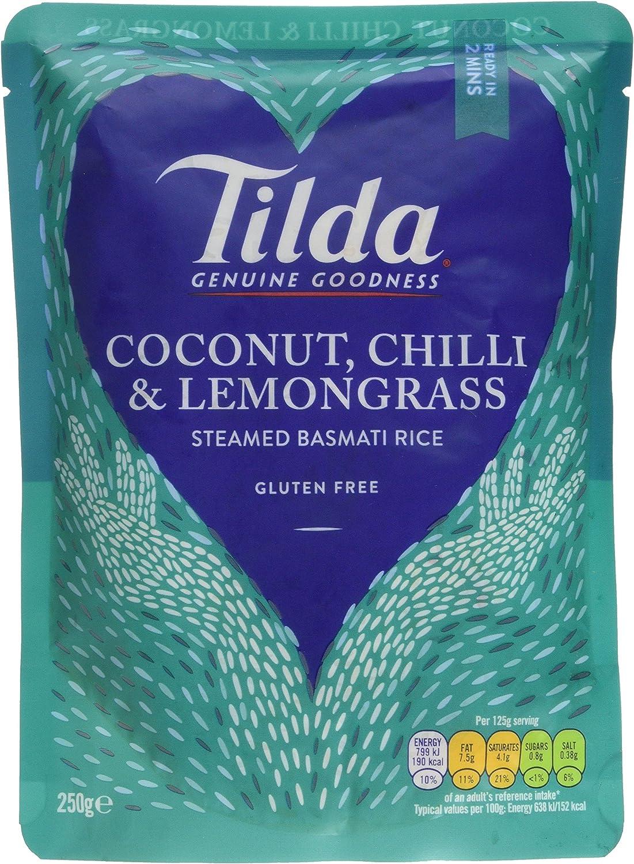 Tilda Coconut Chilli and Lemongrass Steamed Basmati Rice, 250g