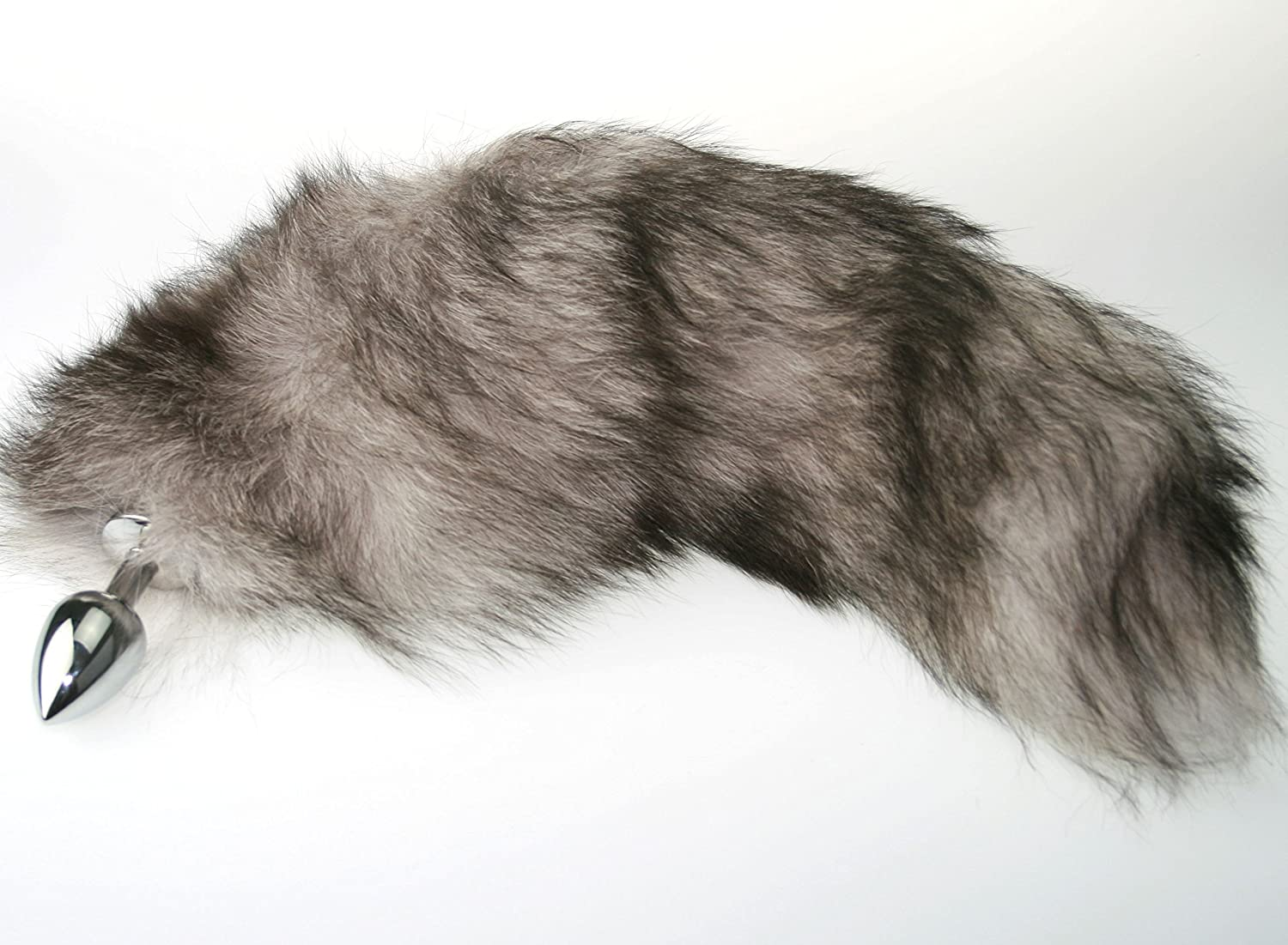 Amazon.com: Silver Real Fur Fox Tail with Small Butt Plug for BDSM Bondage  Fetish Cosplay by The Kink Factory USA: Health & Personal Care