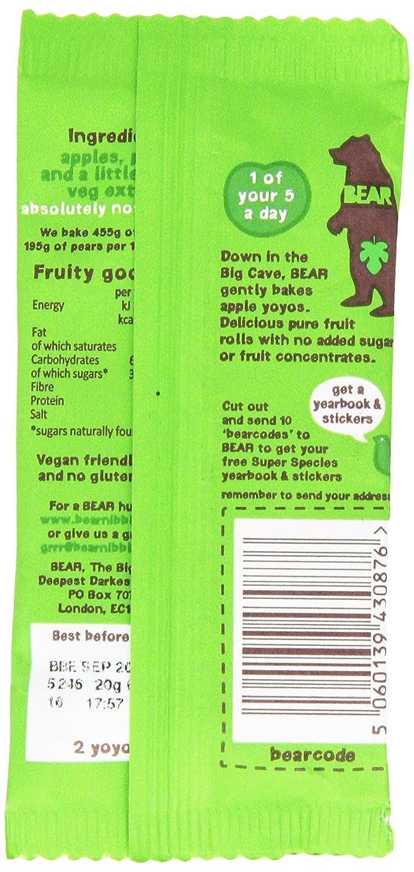 Bear Nibbles Pure Apple Fruit Yoyo, 20g Rolls YOPOM20G