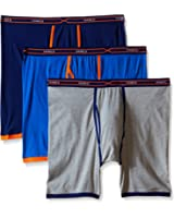 Hanes Men's Red Label 3-Pack X-Temp Active Cool Long Leg Boxer Brief, Assorted