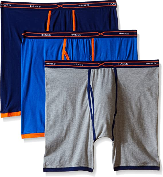 Hanes Ultimate Mens 5-Pack  Assorted Long Leg Boxer with ComfortFlex Waistband Briefs