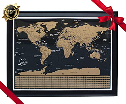 Where To Buy Large World Map.Amazon Com Scratch Off Map Of The World Premium Quality World