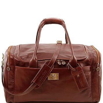 Tuscany Leather TL Voyager Sac de voyage en cuir - Petit modèle Marron I88f5MxQ