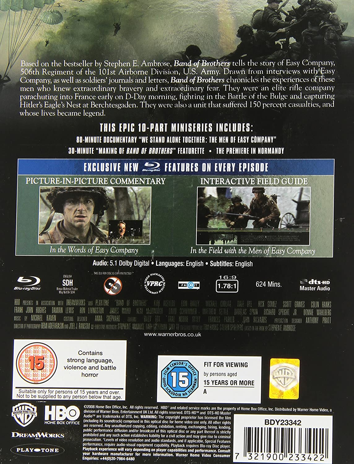 BAND OF BROTHERS COMPLETE [Reino Unido] [Blu-ray]: Amazon.es ...