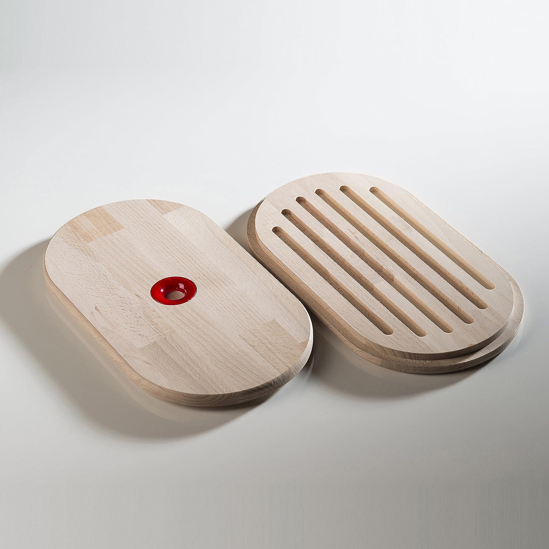 Omada Design breadbox o breadbox adecuada para preservar la frescura de los alimentos y ahorrar espacio Linea Woody 34 x 19 x 17 cm con 6 lt capacidad y tapa para tabla de cortar
