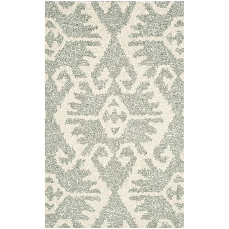 Safavieh Tribal Teppich, WYD323, Gewebter Polypropylen, Grau/Elfenbein, 121 X 182 cm