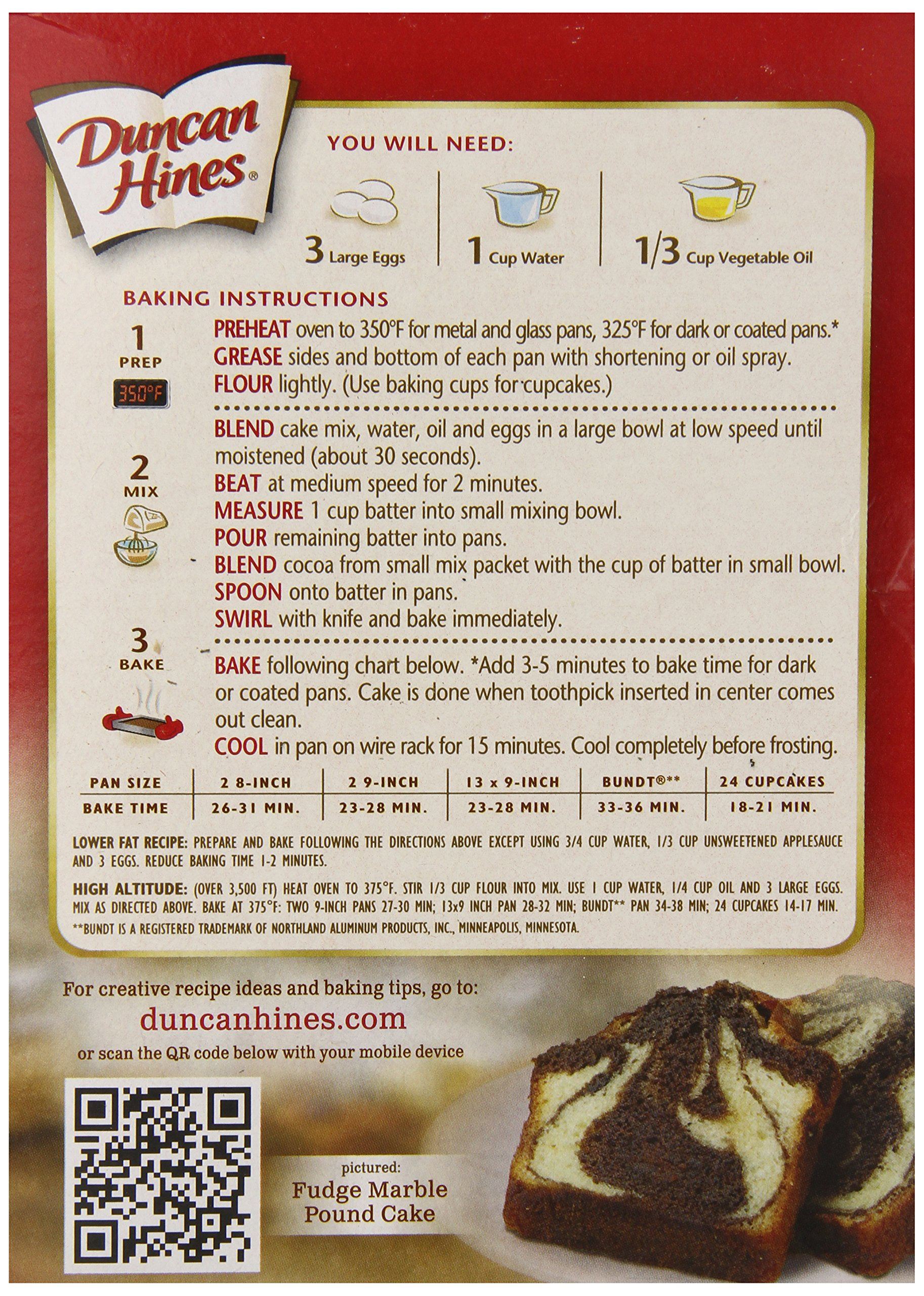 Duncan Hines Cake Mix, Fudge Marble, 16.5 Ounce (Pack of 12) by Duncan Hines (Image #4)
